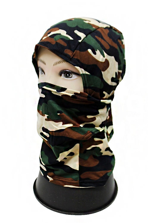 brown camo full mask
