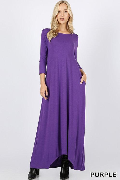 Purple full length dress