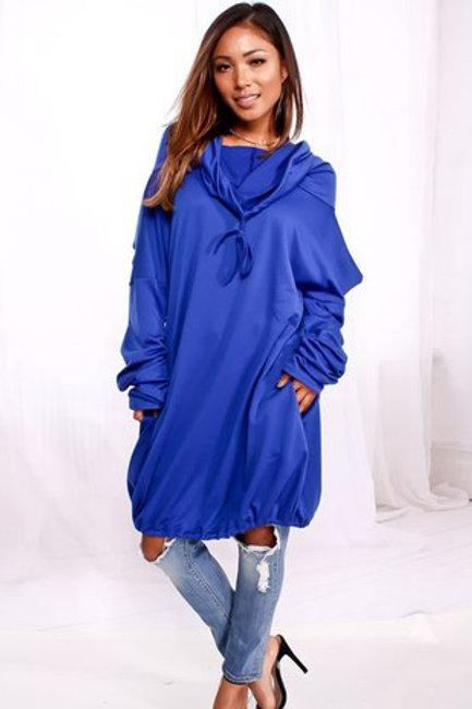 blue hoodie top