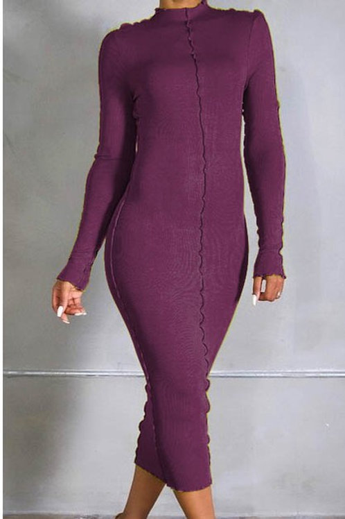 Wine full length dress