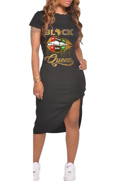 Black black queen dress