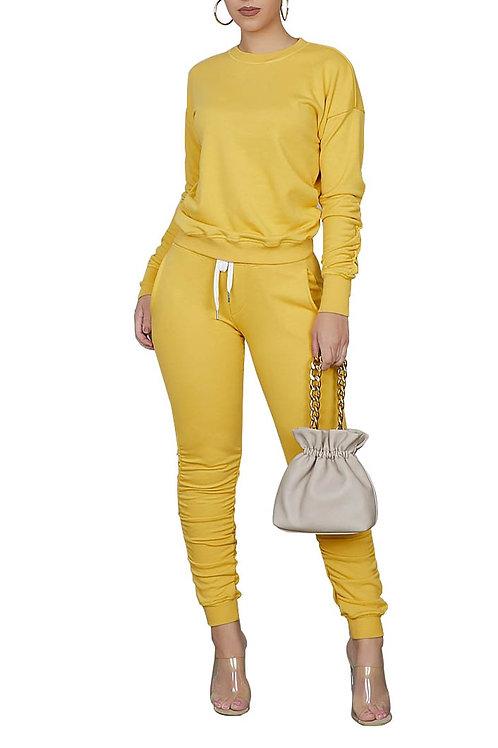 mustard pant set