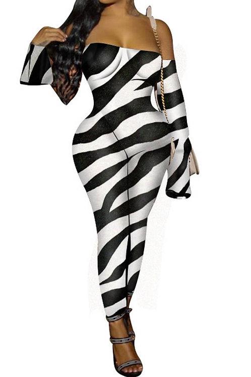 black and white bodysuit