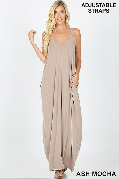ash mocha maxi dress
