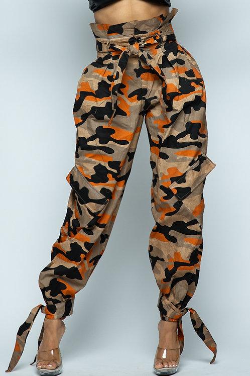 camo high waisted pants