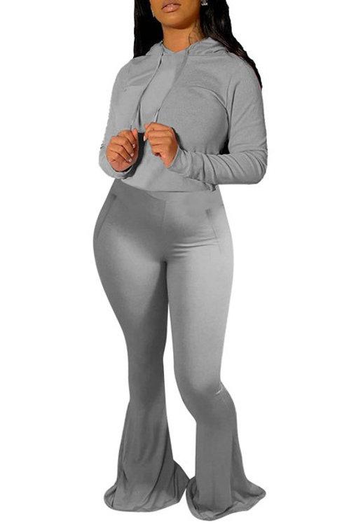 Grey hoodie pant set