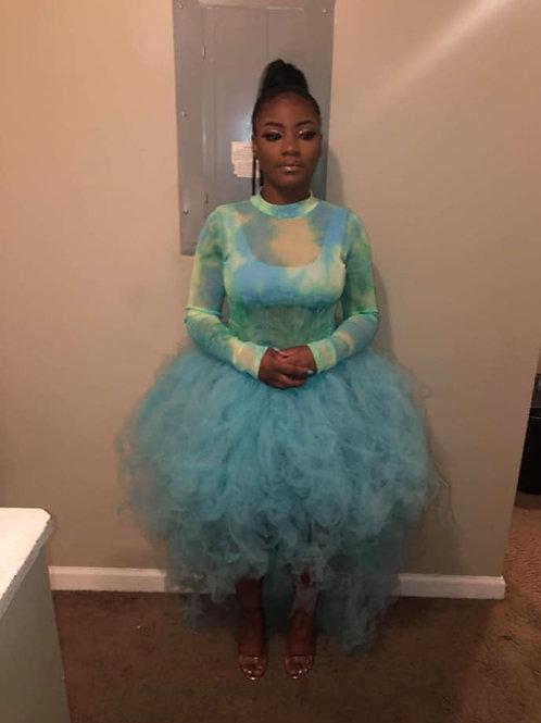 turquoise tutu skirt