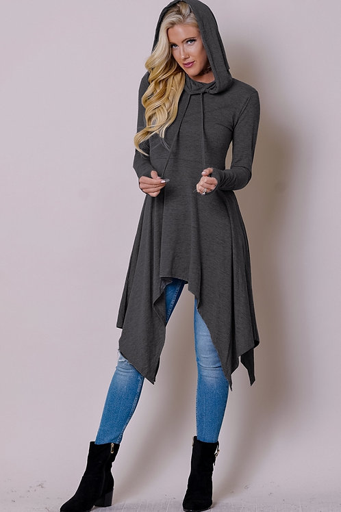 charcoal hoodie dress