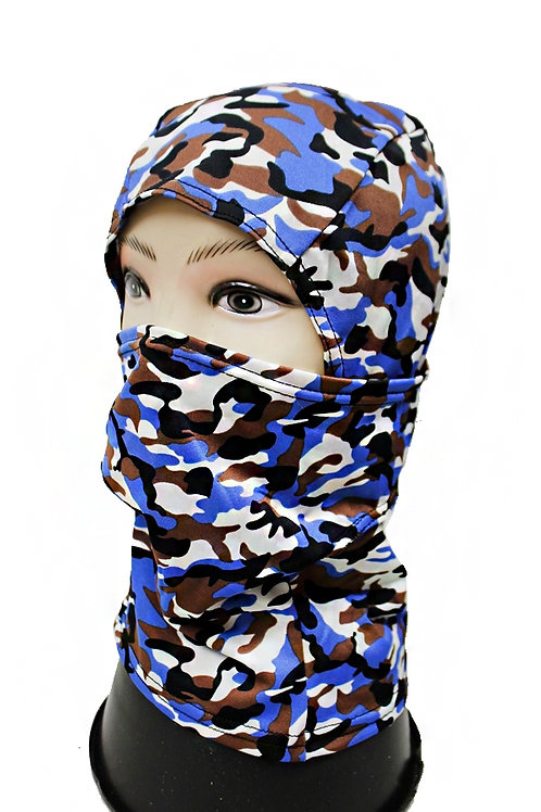 blue camo full mask