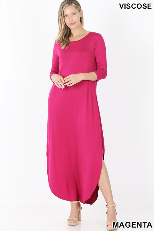 Magenta dress with pockets