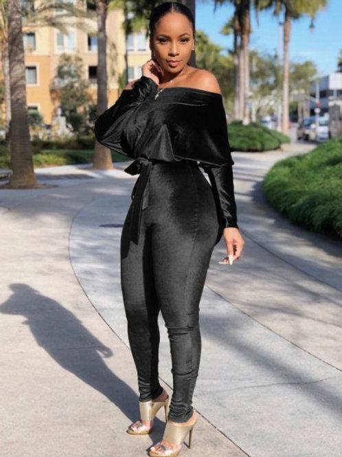 black velour jumper