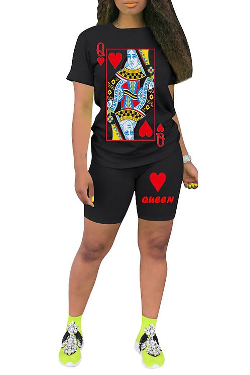 Black queen pant set