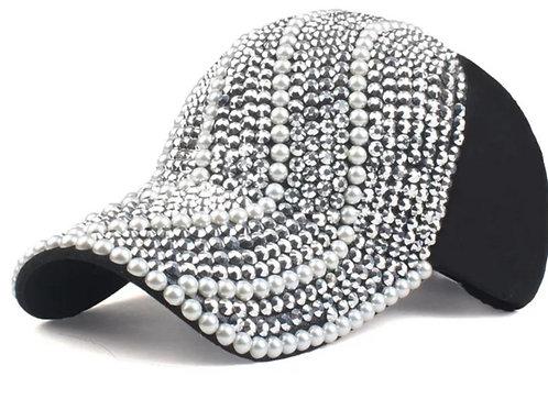 black pearl and diamonds