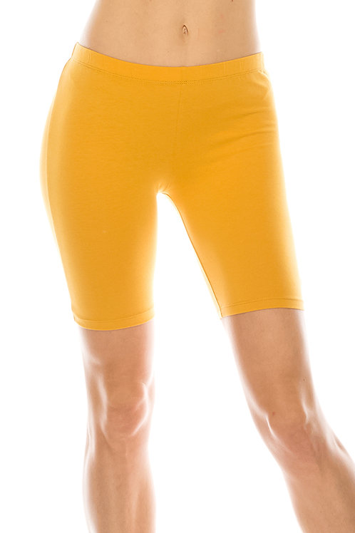 mustard biker shorts