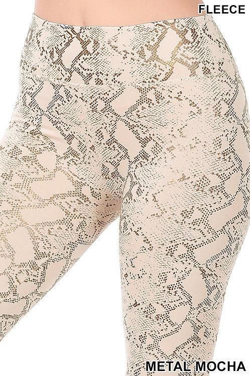 metal mocha leggings