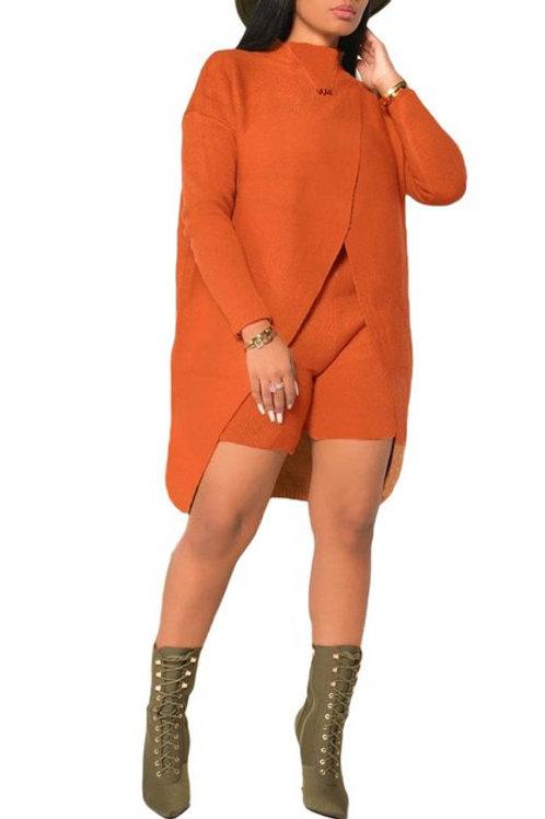 Orange Short pant set