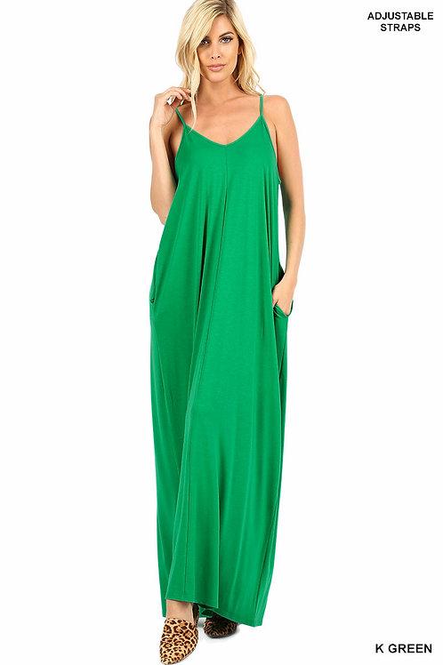 kelly green plus maxi dress