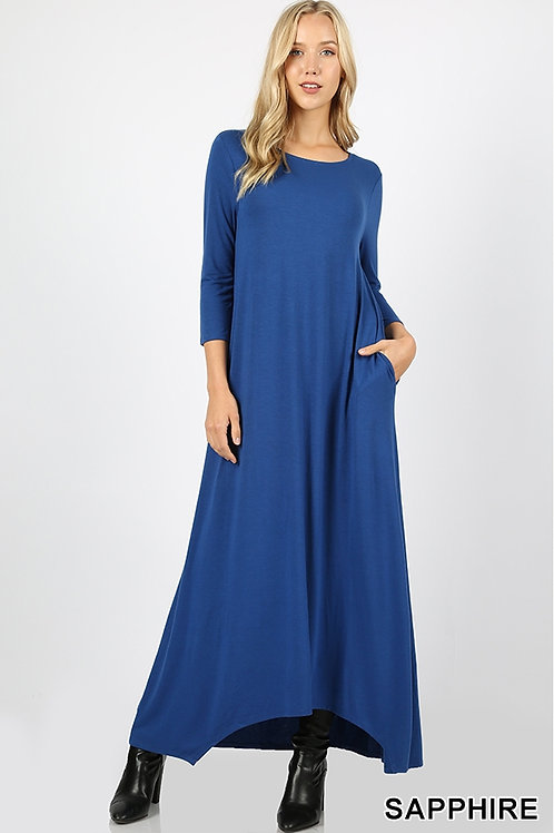 Sapphire full length dress