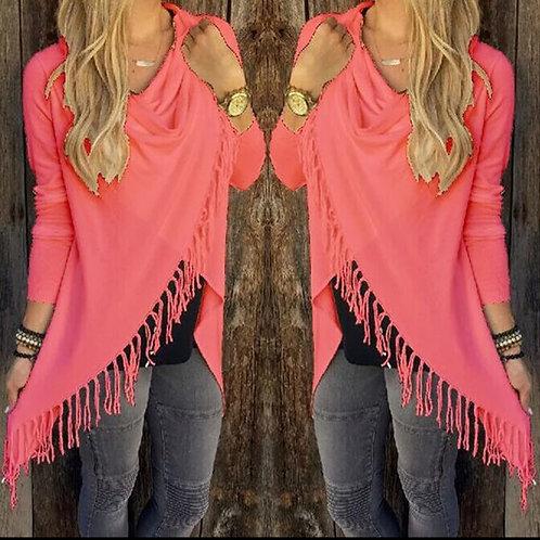 pink fringe top