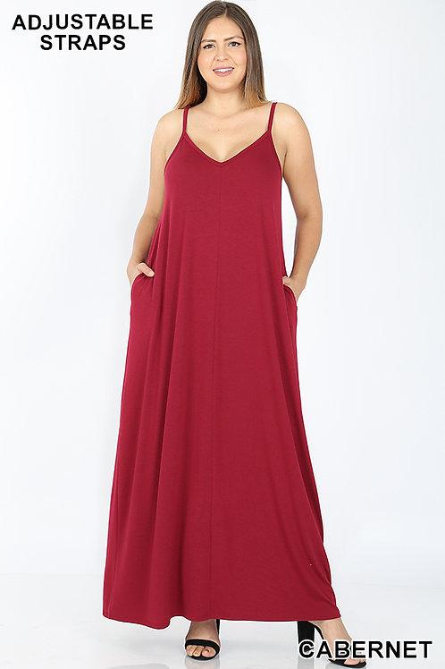 cabernet plus maxi dress