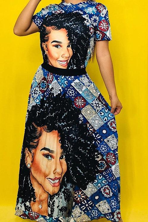 Black girl skirt set