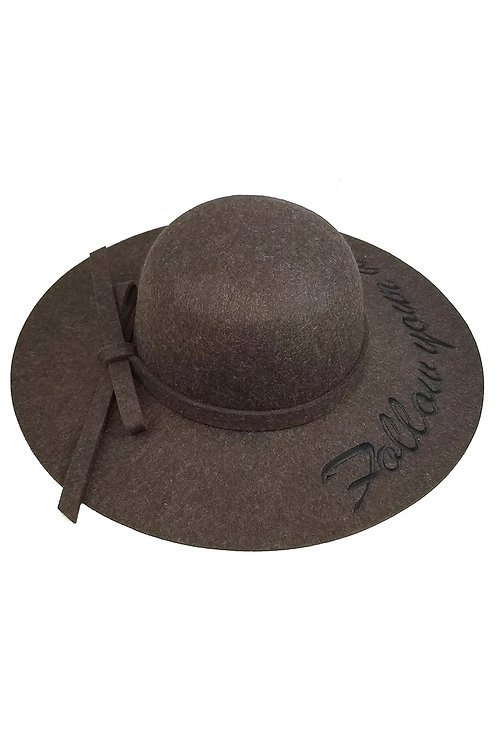 Brown follow your dreams hat