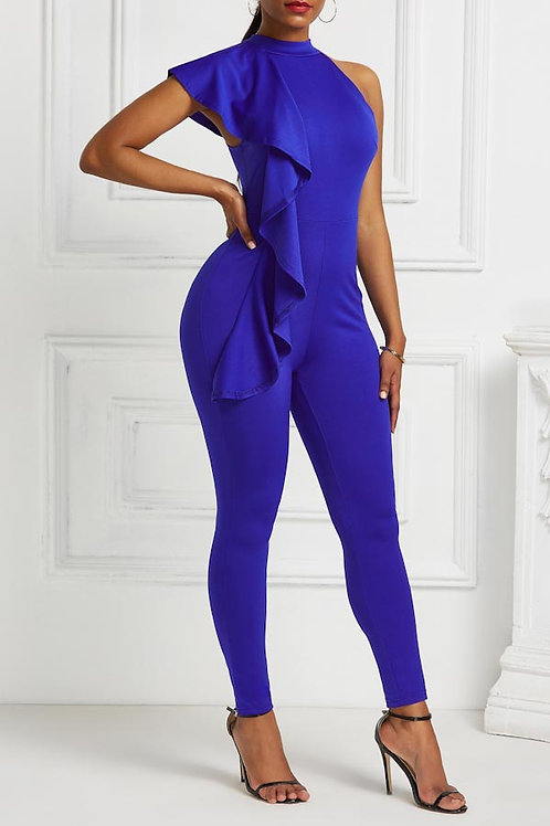 blue frill jumper