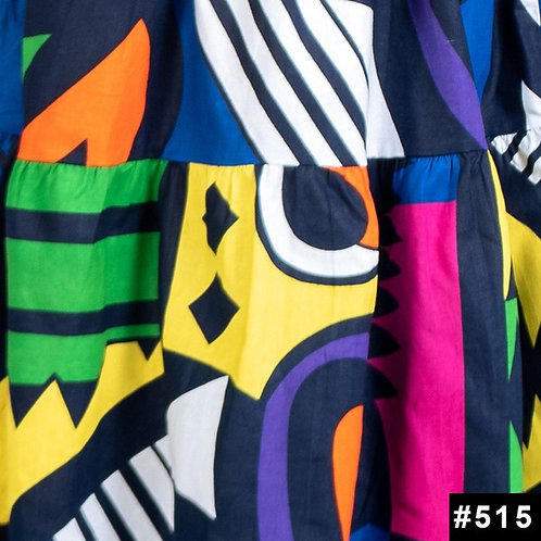 multicolor african dress