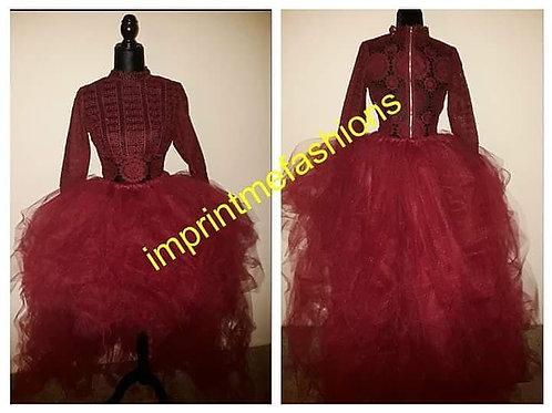 burgundy tutu skirt