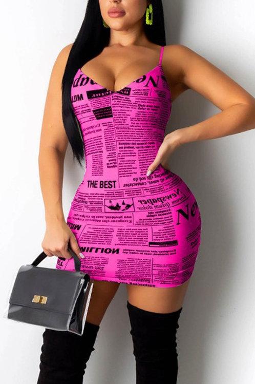 pink news dress