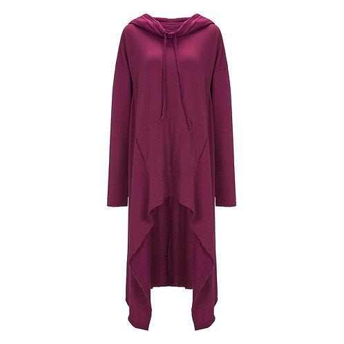 Cowl Hoodie dress