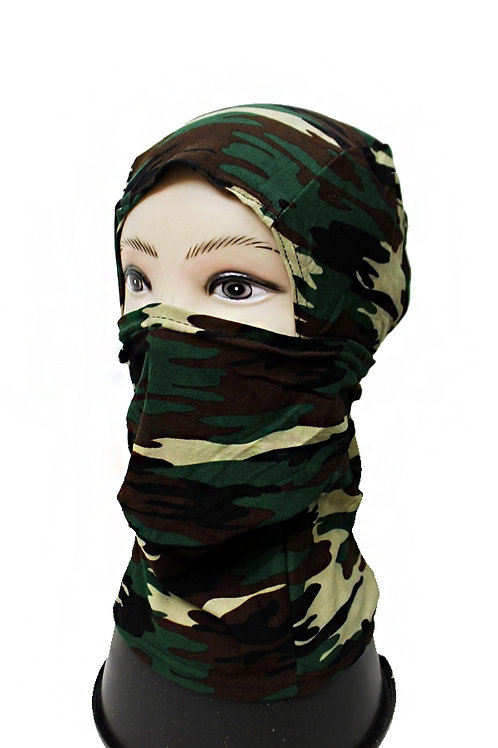 green camo full mask