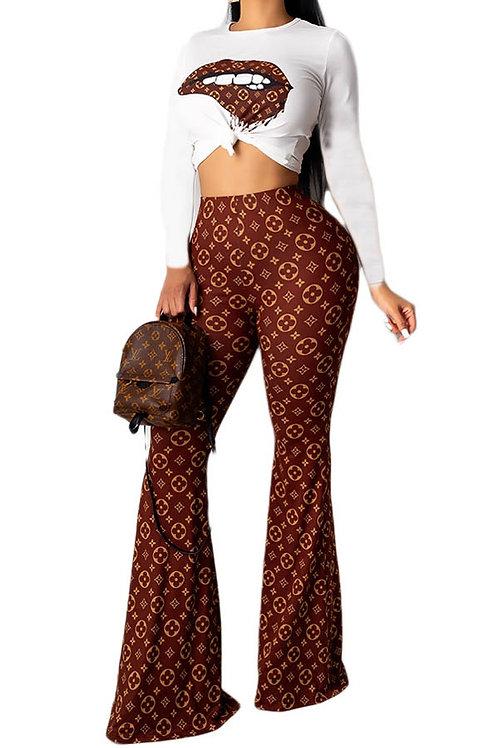 brown pant set