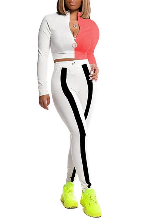white pant set
