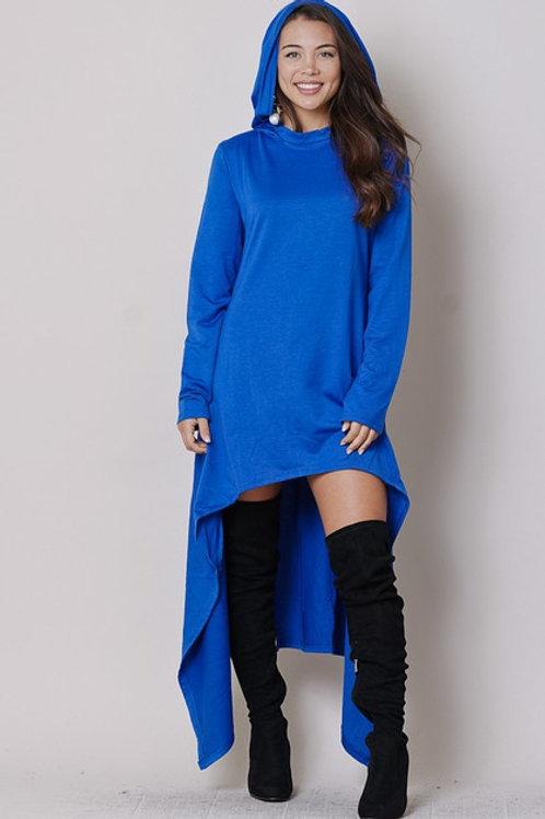 blue hoodie dress