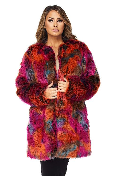multicolor coat