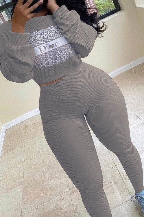 Grey Dior pant set