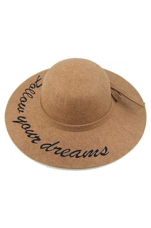 Beige follow your dreams hat