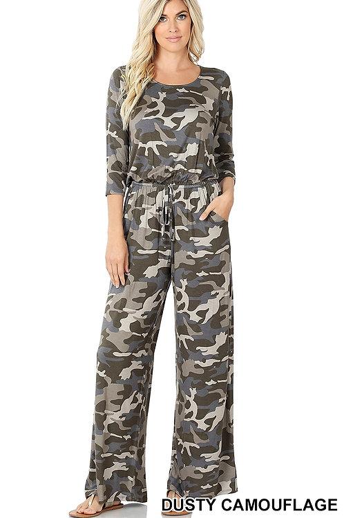 Dusty camo Long sleeve jumpsuit