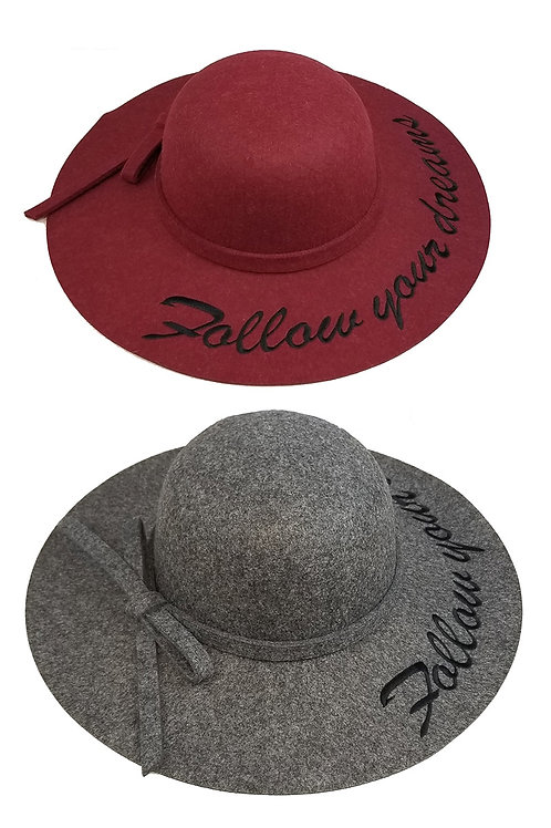 Red follow your dreams hat