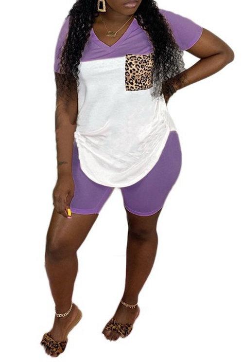 Lilac short pant set