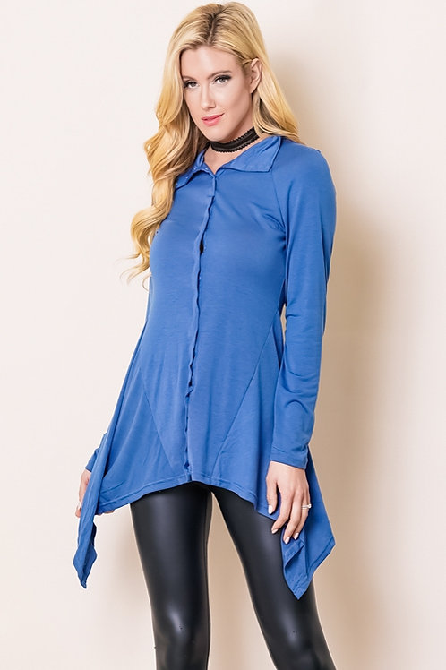 blue zipper top