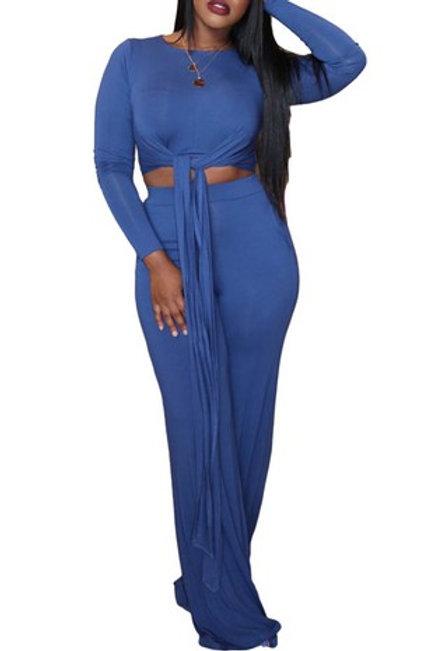 Royal blue pant set