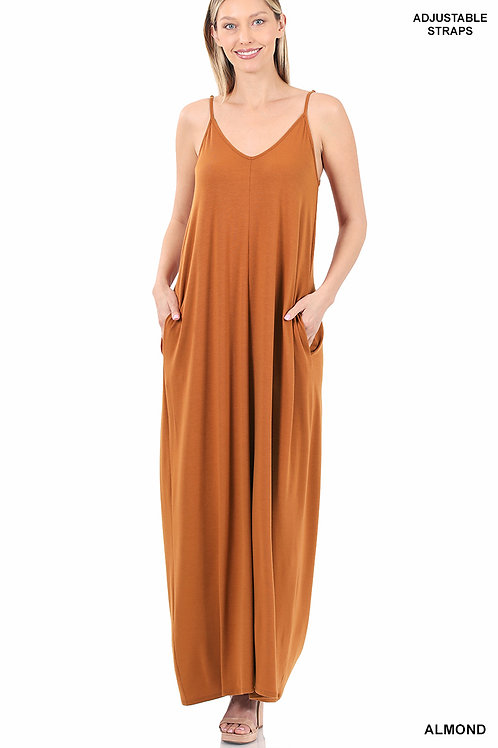 almond maxi dress