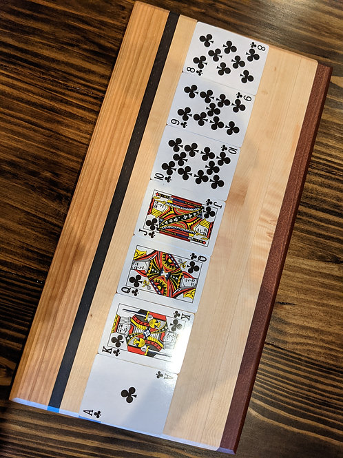 4 species board. 18 x 9.5 x 1.1/4 inch. Edge grain