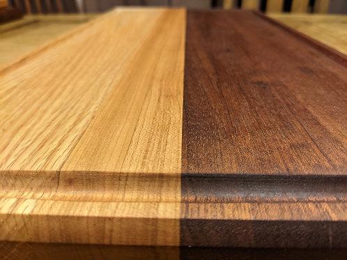 3 species board. 23 x 11.5 x 1.5 inch. Edge grain, juice groove.