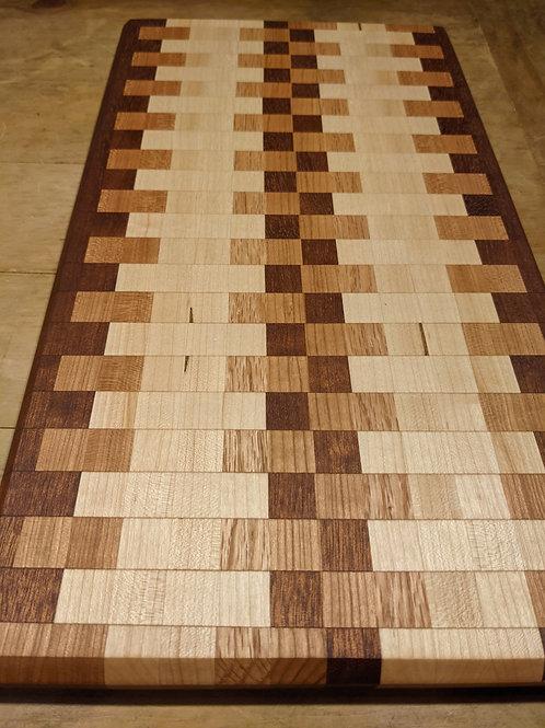 3 species board. 20 x 11 x 1 inch. Edge grain