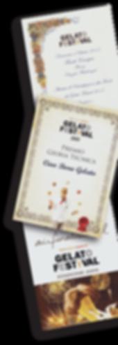 Winning Certificates by Ciao Bono Gelato