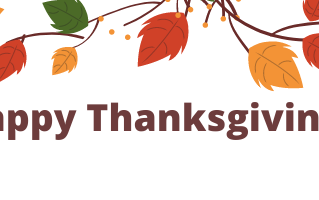 It's that time…Happy Thanksgiving!