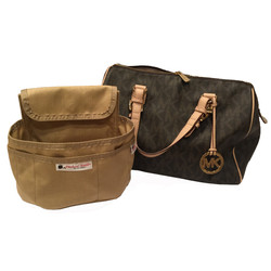 tan and brown purse